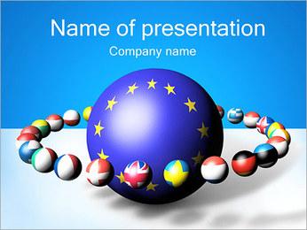 Euro Union Globe PowerPoint Template