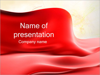 Red Silk PowerPoint presentationsmallar