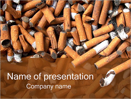 Cigarette butts powerpoint template backgrounds id 0000001855 cigarette butts powerpoint templates toneelgroepblik Images
