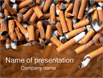 Cigarette Butts PowerPoint Template