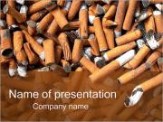 Cigarette Butts PowerPoint Templates