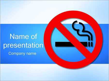 No Smoking Sign Powerpoint Template Backgrounds Google Slides