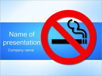 No Smoking Sign PowerPoint Template