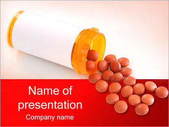 Pills and Bottle PowerPoint Template