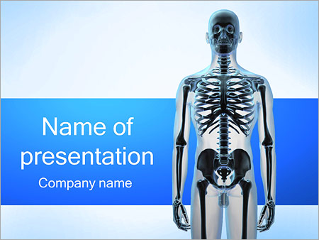 human skeleton powerpoint template & backgrounds id 0000001858, Modern powerpoint