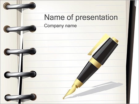 Pen and Notebook PowerPoint Template