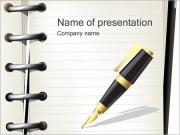 Pen en Notebook Sjablonen PowerPoint presentaties