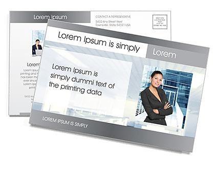 Business Presentation Postcard Template