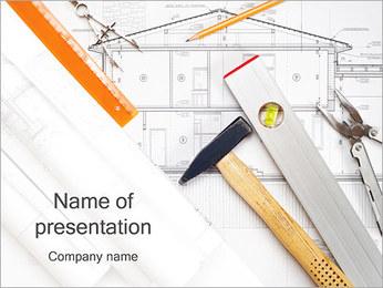 建築家のプラン PowerPointプレゼンテーションのテンプレート