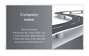 Winding Road Business Card Template