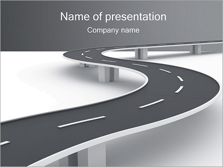 winding road powerpoint template & backgrounds id 0000001872, Modern powerpoint