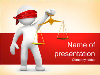 Juiz Modelos de apresentações PowerPoint - Slide 1