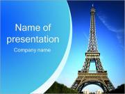 エッフェル塔ツアー PowerPointプレゼンテーションのテンプレート