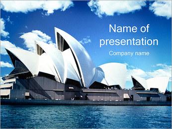 Sydney Opera House I pattern delle presentazioni del PowerPoint