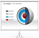 コアダイアグラム PowerPointのための図式