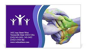 Green World Business Card Template
