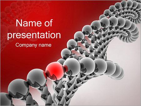 Gène dans l'ADN Modèles des présentations  PowerPoint