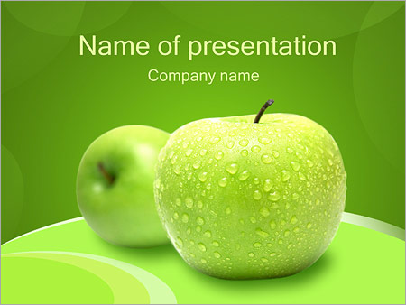 Fresh green apple powerpoint template backgrounds google slides fresh green apple powerpoint template slide 1 maxwellsz