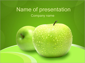 Fresh Green Apple I pattern delle presentazioni del PowerPoint