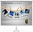 Film Roll PPT Diagrams & Chart