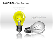 Lamp-Idea PPT Diagrams & Charts