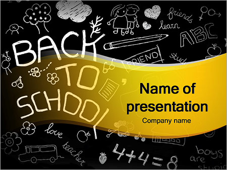 Back to school doodles powerpoint template backgrounds google back to school doodles powerpoint template maxwellsz