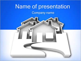 Houses Icon PowerPoint Template