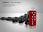 Domino Effect PPT Diagrams & Chart