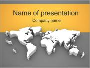 3D World Map Sjablonen PowerPoint presentaties