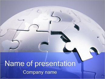 Jigsaw Globe Puzzle PowerPoint Template