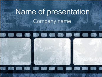 Ретро Film Strip Шаблоны презентаций PowerPoint