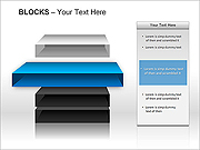 3D Blocks PPT Diagrams & Charts