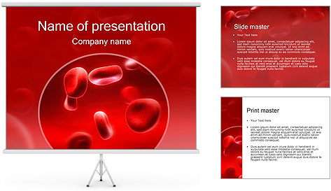 red blood cells powerpoint template backgrounds id 0000001938