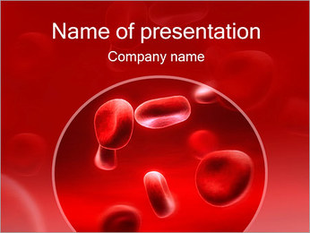 Red Blood Cells PowerPoint Template - Slide 1