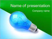 Синий свет лампы Шаблоны презентаций PowerPoint