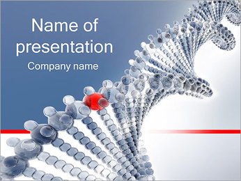 DNA Strand PowerPoint presentationsmallar