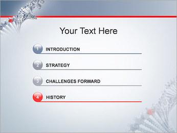 Brin d'ADN Modèles des présentations  PowerPoint - Diapositives 3