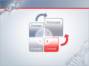 Brin d'ADN Modèles des présentations  PowerPoint - Diapositives 5