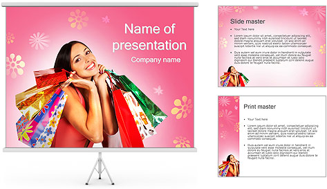 Shopping Pretty Woman PowerPoint Template