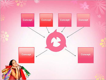 Shopping Pretty Woman PowerPoint Template - Slide 10