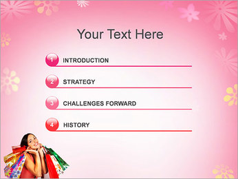 Shopping Pretty Woman PowerPoint Template - Slide 3