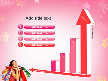 Shopping Pretty Woman PowerPoint Template - Slide 6