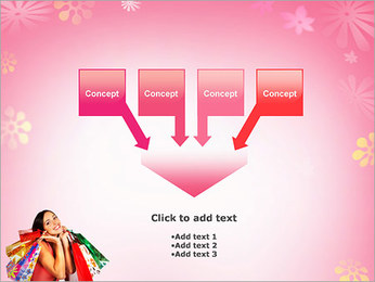 Shopping Pretty Woman PowerPoint Template - Slide 8