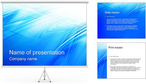 Blue Light Wave PowerPoint Template