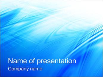 Blue Light Wave PowerPoint Template - Slide 1