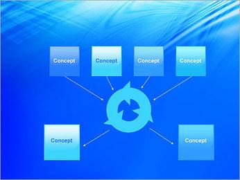 Blue Light Wave PowerPoint Template - Slide 10