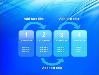 Blue Light Wave PowerPoint Template - Slide 11