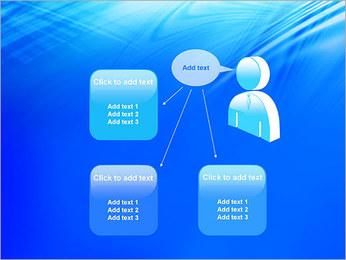 Blue Light Wave PowerPoint Template - Slide 12