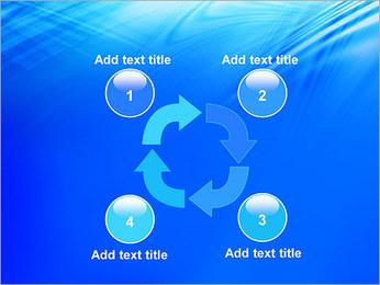 Blue Light Wave PowerPoint Template - Slide 14