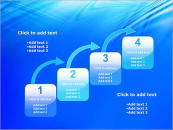 Blue Light Wave PowerPoint Template - Slide 20